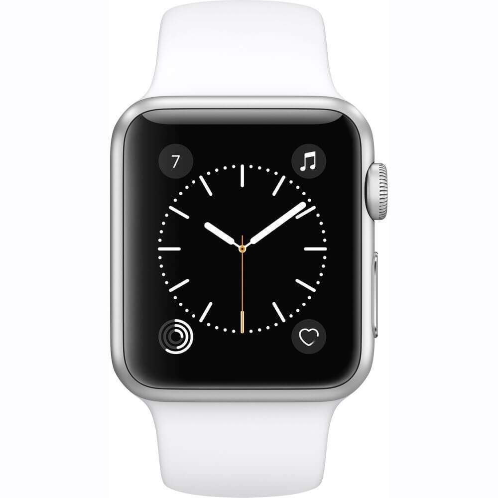 Apple Watch Series 2 42mm Silver Aluminium Case With White Sport Black
